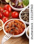 sicilian caponata in small... | Shutterstock . vector #131139563
