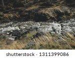 autumn mountain river stream...   Shutterstock . vector #1311399086