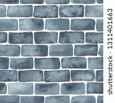 hand painted brick wall... | Shutterstock . vector #1311401663