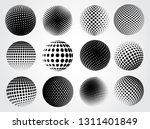 set of halftone spheres | Shutterstock .eps vector #1311401849