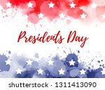 usa presidents day background.... | Shutterstock .eps vector #1311413090