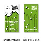 set of st. patrick's day party... | Shutterstock .eps vector #1311417116
