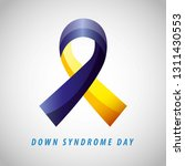down syndrome day card blue and ...   Shutterstock .eps vector #1311430553