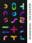set of colorful neon shiny...   Shutterstock .eps vector #1311431939