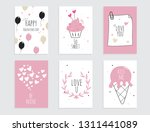collection of pink  black.... | Shutterstock .eps vector #1311441089