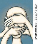 see no evil  hear no evil ... | Shutterstock .eps vector #131146460