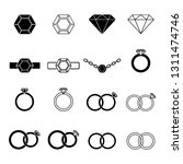 set of jewelry icons. solitaire ... | Shutterstock .eps vector #1311474746