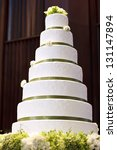 wedding cake decorate with... | Shutterstock . vector #131147894