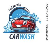 car wash illustration banner | Shutterstock .eps vector #1311486929