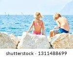 children girl and boy  siblings ... | Shutterstock . vector #1311488699