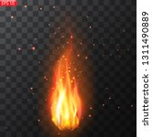 realistic burning fire flames... | Shutterstock .eps vector #1311490889