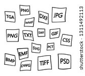 file formats flat icons set....