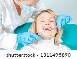 woman having teeth examined at... | Shutterstock . vector #1311495890