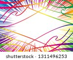 colorful radiation and flying... | Shutterstock .eps vector #1311496253