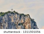 aerial view on the cross on the ... | Shutterstock . vector #1311501056