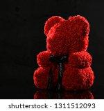 red bear of roses present gift... | Shutterstock . vector #1311512093