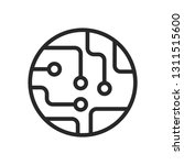 circuit board icon vector  chip ... | Shutterstock .eps vector #1311515600