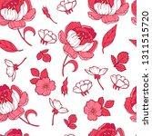 floral seamless pattern garden...   Shutterstock .eps vector #1311515720