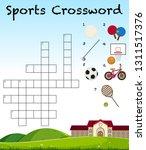 sport crossword game template...   Shutterstock .eps vector #1311517376