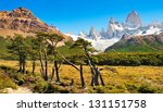 Постер, плакат: Beautiful landscape with Mt