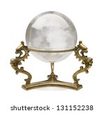 crystal ball isolated on a... | Shutterstock . vector #131152238