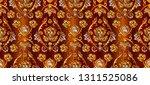 brown and golden damask luxury... | Shutterstock .eps vector #1311525086