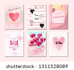 set of valentine's day card ... | Shutterstock .eps vector #1311528089