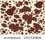 cow leather skin brown pattern.  | Shutterstock .eps vector #1311534800