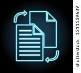 file sharing in style neon icon....