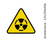 nuclear warning sign in yellow... | Shutterstock .eps vector #1311546356
