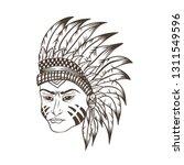 apache head vector illustration | Shutterstock .eps vector #1311549596
