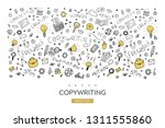 copywriting vector illustration ... | Shutterstock .eps vector #1311555860