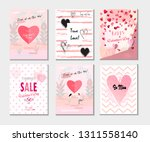 set of valentine's day card ... | Shutterstock .eps vector #1311558140