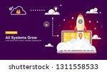 start up simple rocket web... | Shutterstock .eps vector #1311558533