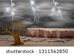 a dry land background... | Shutterstock .eps vector #1311562850