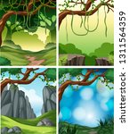 set of tropical rainforest... | Shutterstock .eps vector #1311564359
