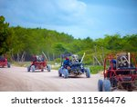 Group Of Buggy Vehicles Riding...
