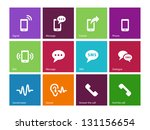 phone icons on color background.... | Shutterstock . vector #131156654