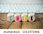 cubes with colored letters for... | Shutterstock . vector #1311572486