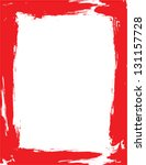 Red Vector Painted Frame With...