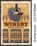 premium wine grand reserve... | Shutterstock .eps vector #1311578069