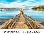 Wooden Pier In Southwest Harbor ...