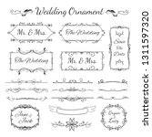 wedding ornament collection...   Shutterstock .eps vector #1311597320