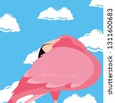 cute flamingo sky | Shutterstock .eps vector #1311600683