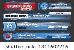 breaking news and tv... | Shutterstock .eps vector #1311602216