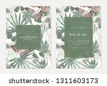 botanical wedding invitation... | Shutterstock .eps vector #1311603173