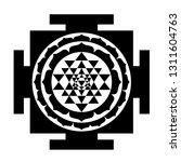 the sri yantra or sri chakra ... | Shutterstock .eps vector #1311604763