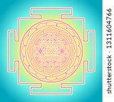 the sri yantra or sri chakra ... | Shutterstock .eps vector #1311604766