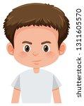 a brunette boy character... | Shutterstock .eps vector #1311605570