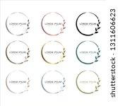 logos vector in elegant and... | Shutterstock .eps vector #1311606623